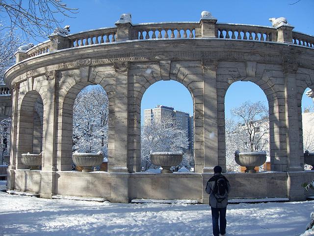 Winter in Friedrichshain Park, Märchenbrunnen - Photo by Tom Williamson