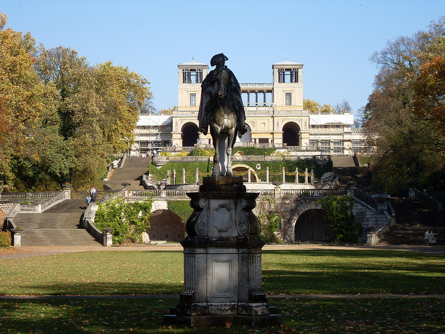 Frederick the Great Monument in front of the Orangerie, Potsdam near Berlin. By Tom Williamson